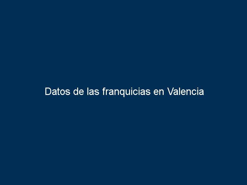 datos de las franquicias en valencia 20142 - Datos de las franquicias en Valencia